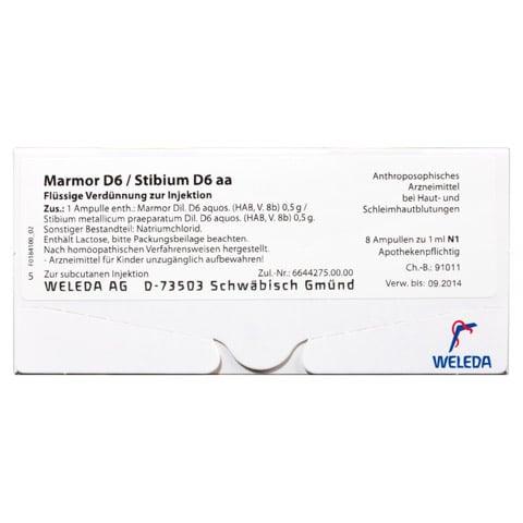MARMOR D 6 / STIBIUM D 6 aa Ampullen 8x1 Milliliter N1