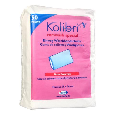 KOLIBRI comwash special Waschhandsch.16x24cm weiß 50 Stück