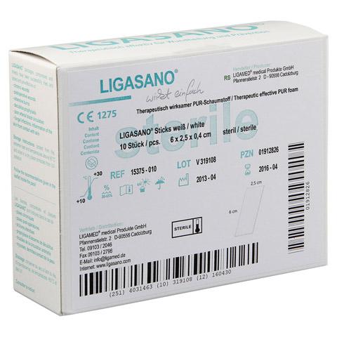 LIGASANO weiß steril Sticks 0,4x2,5x6 cm 10 Stück