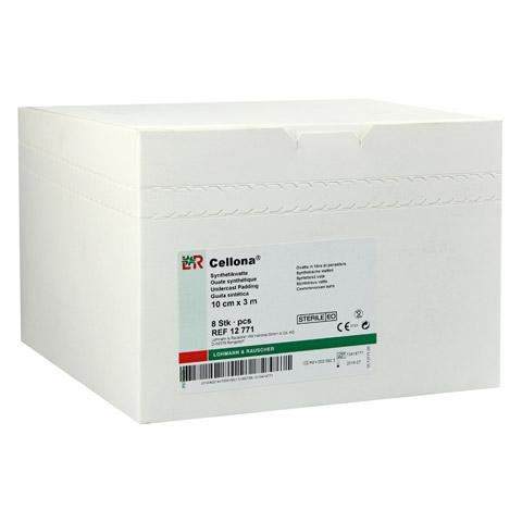 CELLONA Synthetikwatte 10 cmx3 m steril 8 Stück