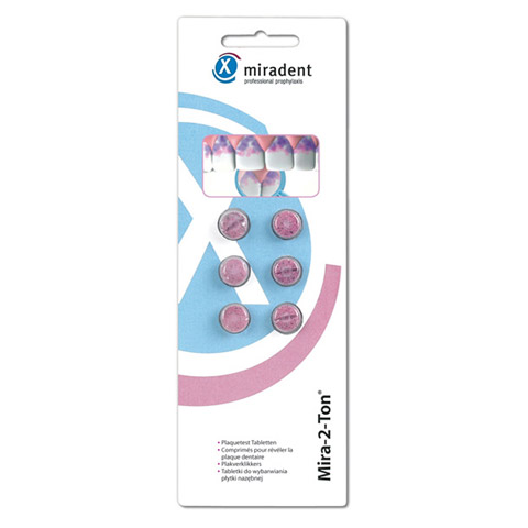MIRADENT Plaquetest Tabletten Mira-2-Ton 6 Stück