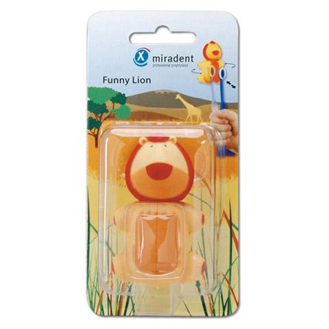 MIRADENT Kinderzahnbürstenhalter Funny Löwe 1 Stück