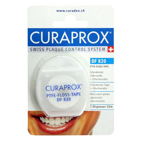 CURAPROX DF 820 Interd.Tape m.Chlorhexidin Spender 35 Meter