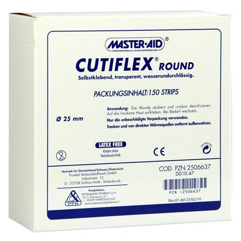 CUTIFLEX Folien-Pflaster round 22,5mm Master Aid 150 Stück