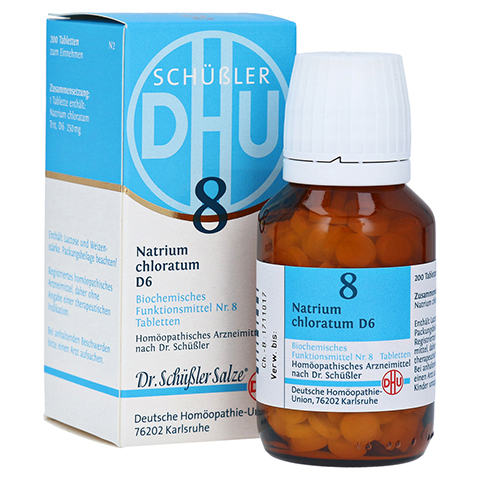 BIOCHEMIE DHU 8 Natrium chloratum D 6 Tabletten 200 Stück N2