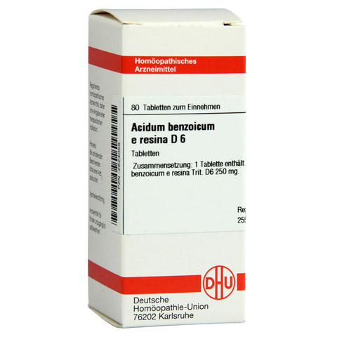 ACIDUM BENZOICUM e Resina D 6 Tabletten 80 Stück N1
