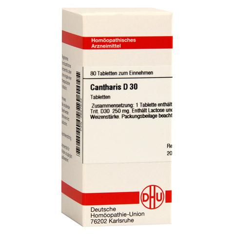 CANTHARIS D 30 Tabletten 80 Stück