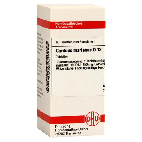 CARDUUS MARIANUS D 12 Tabletten 80 Stück N1