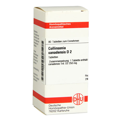 COLLINSONIA canadensis D 2 Tabletten 80 Stück N1