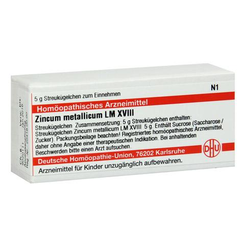 LM ZINCUM metallicum XVIII Globuli 5 Gramm N1