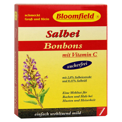 BLOOMFIELD Salbei Bonbons zuckerfrei 40 Gramm