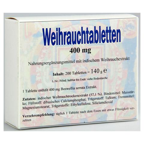 WEIHRAUCH 400 mg Tabletten 200 Stück