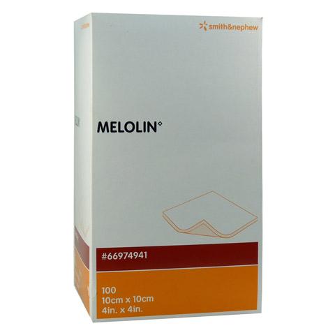 MELOLIN 10x10 cm Wundauflagen steril 100 Stück