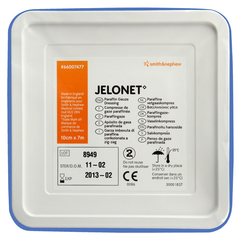 JELONET Paraffingaze 10x700 cm steril Dose 1 Stück