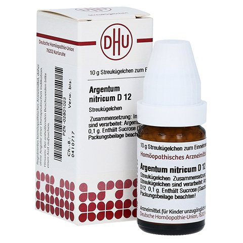 ARGENTUM NITRICUM D 12 Globuli 10 Gramm N1