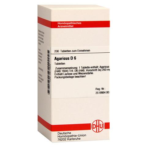 AGARICUS D 6 Tabletten 200 Stück N2