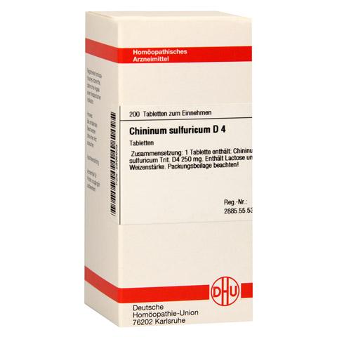 CHININUM SULFURICUM D 4 Tabletten 200 Stück N2
