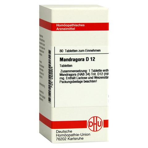 MANDRAGORA D 12 Tabletten 80 Stück