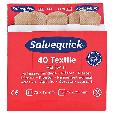 SALVEQUICK Pflasterstrips elastisch Refill 6444 40 Stück