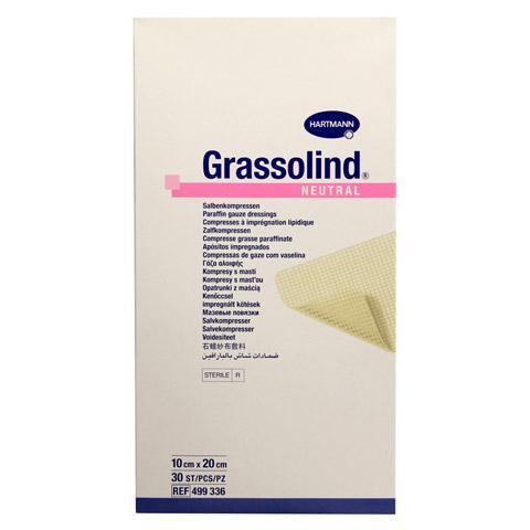 GRASSOLIND Salbenkompressen 10x20 cm steril 30 Stück