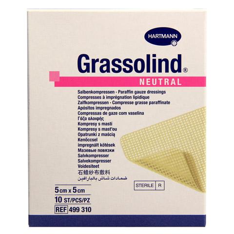 GRASSOLIND Salbenkompressen 5x5 cm steril 10 Stück