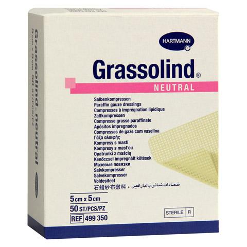 GRASSOLIND Salbenkompressen 5x5 cm steril 50 Stück