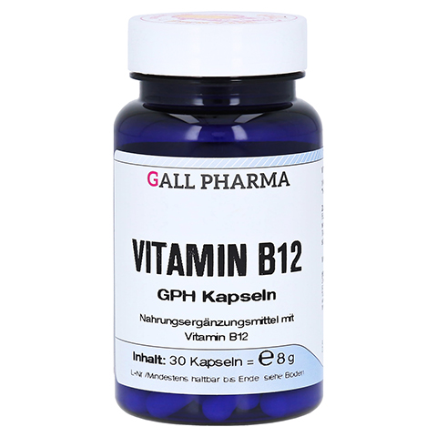 VITAMIN B12 GPH 3 µg Kapseln 30 Stück