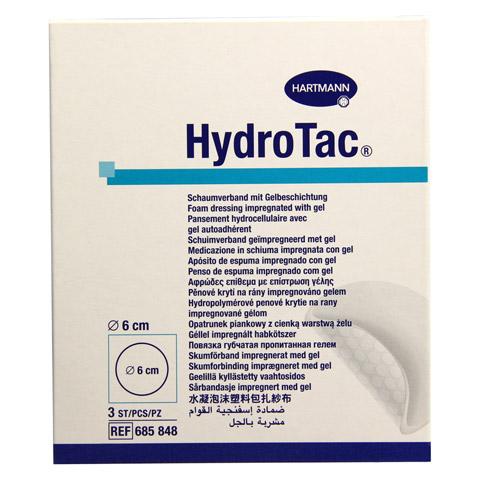 HYDROTAC Schaumverband 6 cm rund steril 3 Stück