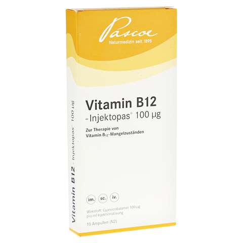 Vitamin B12 Injektopas 100 µg Injektionslösung 10x1 Milliliter N2