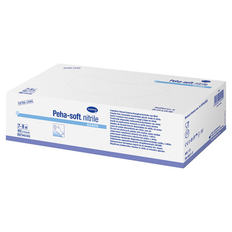 PEHA-SOFT nitrile guard Unt.Hands.unsteril pf M 100 Stück