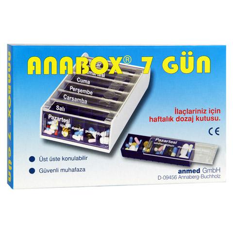ANABOX 7 Tage Wochendosierer blau türkisch 1 Stück