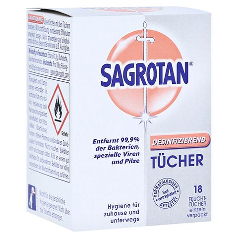 SAGROTAN Desinfektionstücher 18 Stück