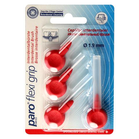 PARO Isola Flexi Grip Interdentalb.zyl.1,9mm rot 4 Stück