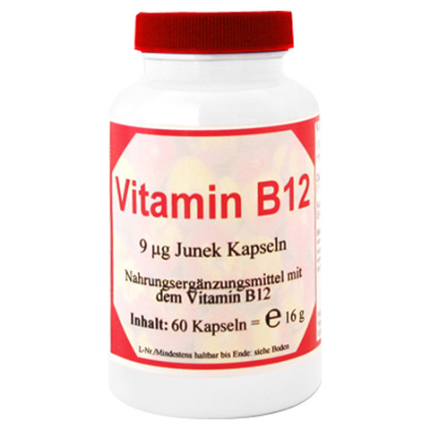 VITAMIN B12 9 µg Junek Kapseln 60 Stück