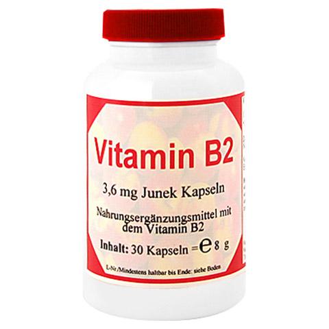 VITAMIN B2 3,6 mg Junek Kapseln 30 Stück