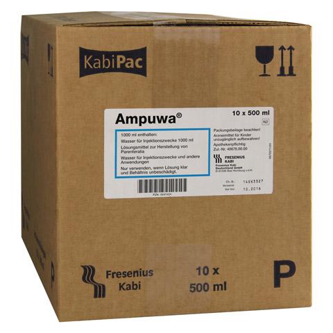 AMPUWA Plastikflasche Injektions-/Infusionslsg. 10x500 Milliliter N2