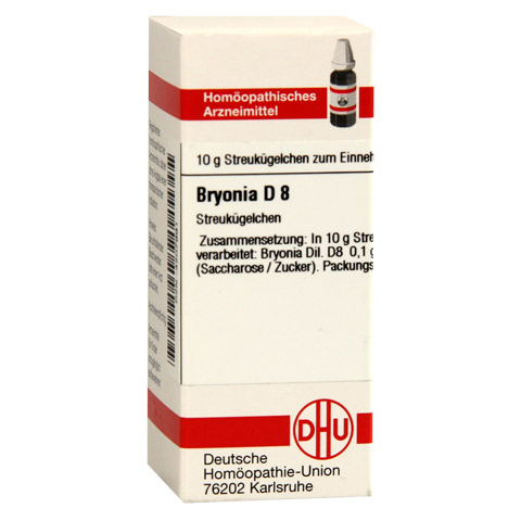BRYONIA D 8 Globuli 10 Gramm N1
