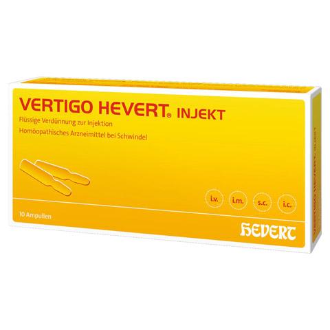 VERTIGO HEVERT Injekt Ampullen 10 Stück N1