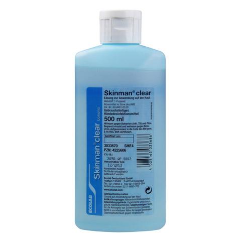 SKINMAN clear Händedesinfektion Spenderflasche 500 Milliliter