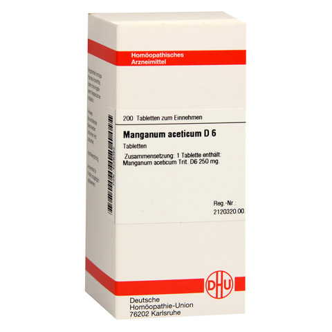 MANGANUM ACETICUM D 6 Tabletten 200 Stück N2