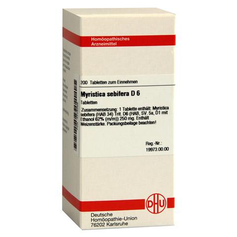 MYRISTICA SEBIFERA D 6 Tabletten 200 Stück N2
