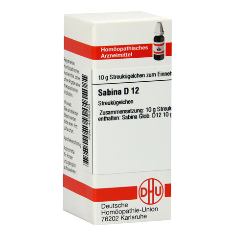 SABINA D 12 Globuli 10 Gramm N1