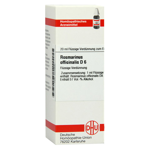 ROSMARINUS OFFICINALIS D 6 Dilution 20 Milliliter N1
