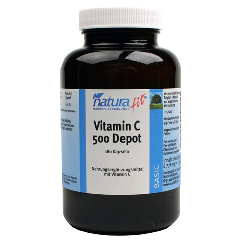 NATURAFIT Vitamin C 500 Depot Kapseln 180 Stück
