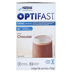 Optifast home Drink Schokolade 8x55 Gramm - Rechte Seite