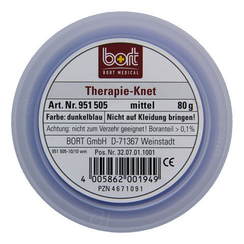 BORT Therapie Knet mittel dunkelblau 80 Gramm