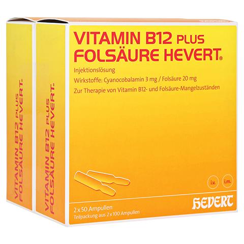 Vitamin B12 Folsäure Hevert Amp.-Paare 2x100 Stück