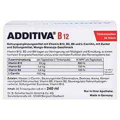 ADDITIVA Vitamin B12 Trinkampullen 30x8 Milliliter - Rückseite
