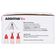 ADDITIVA Vitamin B12 Trinkampullen 30x8 Milliliter - Linke Seite