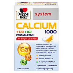 DOPPELHERZ Calcium 1000+D3+K2 system Kautabletten 60 Stück